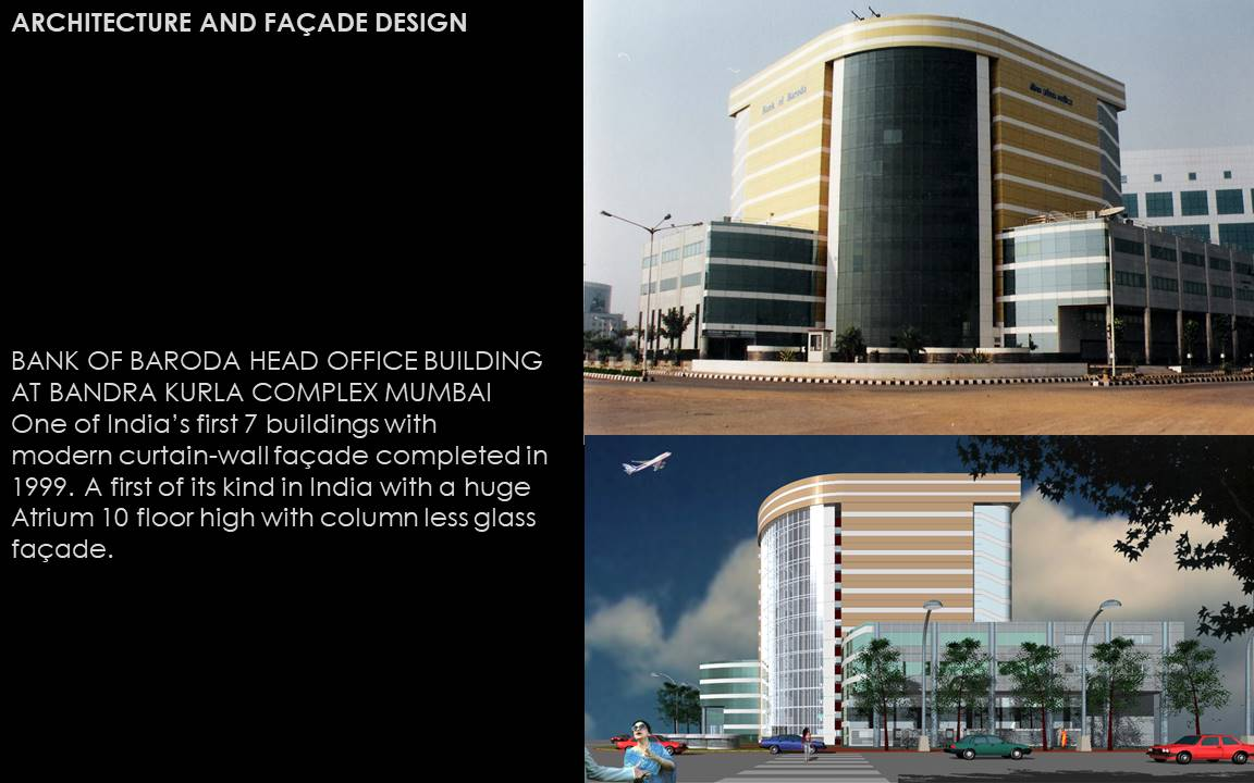 glass facade design office building. ARCHITECTURE AND FAÇADE DESIGN BANK OF BARODA HEAD OFFICE BUILDING AT BANDRA KURLA COMPLEX MUMBAI Glass Facade Design Office Building